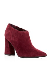 Marc Fisher Ltd. Jayla Pointed Toe High Heel Booties Dark Red
