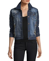 Berek Blues Temptation Lace And Denim Jacket Petite