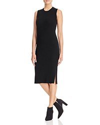 Bloomingdale's C By Ribbed Cashmere Dress Black