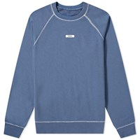 Tres Bien Escape Label Crew Sweat Blue