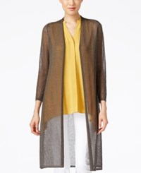 Alfani Petite Lightweight Open Front Duster Cardigan Only At Macy's Urban Olive