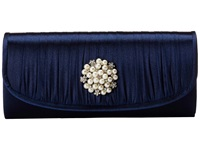 Jessica Mcclintock Pleated Pearl Clutch Navy Clutch Handbags