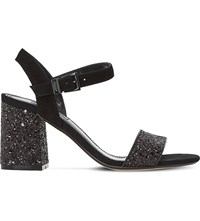Dune Mylow Glitter Sandals Black Glitter