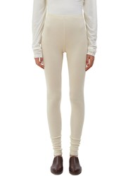 Lauren Manoogian Cashmere Knit Leggings Naturals