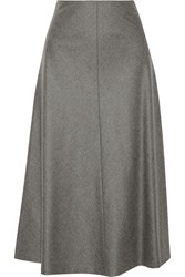 Theory Uthema Wool Blend Skirt Gray