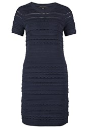 Banana Republic Jumper Dress Preppy Navy Dark Blue