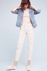 Anthropologie Levi's Wedgie Icon Ultra High Rise Jeans White