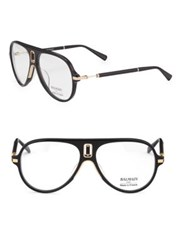 Balmain Acetate Aviator Opticals Black