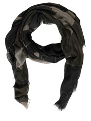 Valentino Panther Modal Cashmere And Silk Scarf