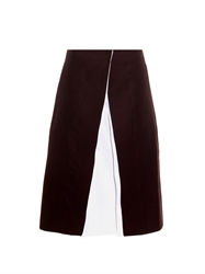 Jil Sander Teoria A Line Cotton Skirt