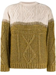 Forte Forte Two Tone Cable Knit Jumper 60