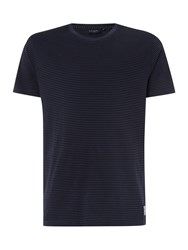 Paul Smith Regular Fit Crew Neck Thin Stripe T Shirt Blue