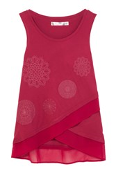 Desigual Carola Rep T Shirt Red