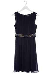 Esprit Collection Cocktail Dress Party Dress Navy Blue