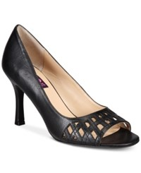 Mojo Moxy Charli Peep Toe Pumps Women's Shoes Black