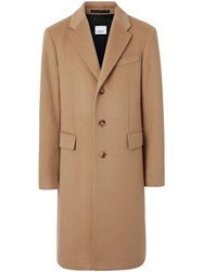 Burberry Wool Cashmere Tailored Coat Brown