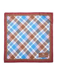 Chester Barrie Patterned Pocket Square Brown