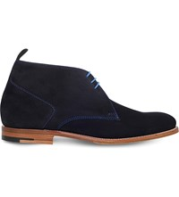 Barker Lucius Suede Chukka Boots Navy