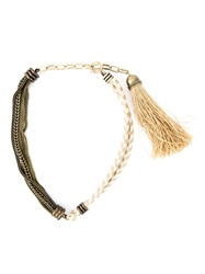 Lanvin Rope And Chain Necklace Nude And Neutrals