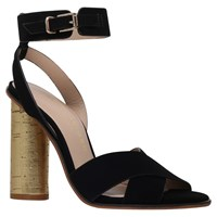 Kurt Geiger Talbot Block Heeled Sandals Black Suede