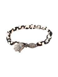 Loree Rodkin Bead Diamond Hamsa Charm Bracelet Metallic