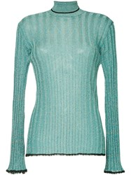 Ellery Ribbed Glitter Sweater Blue