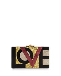 Alicia Small Lucite Clutch Bag Love Me Rafe