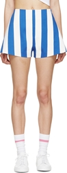 Jacquemus Blue And White Striped Parasol Shorts