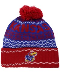 Top Of The World Kansas Jayhawks Sprinkle Knit Hat Royalblue Red White
