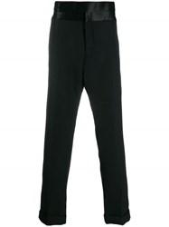 Haider Ackermann Satin Waistband Trousers Black