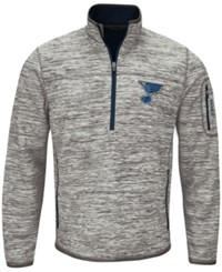G3 Sports Men's St. Louis Blues Fast Pace 1 4 Zip Pullover Gray Royalblue