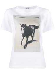 Each X Other Amanda Wall Charity Collaboration Horse T Shirt White