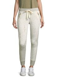 N Philanthropy Gravity Distressed Joggers Silver Cloud