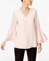 Alfani Petite Bell Sleeve Blouse Created For Macy's Soft Shell