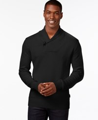 Sean John Men's Toggle Shawl Collar Sweater Black
