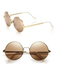Cutler And Gross 55Mm Round Sunglasses Gold
