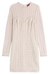 Missoni Crochet Knit Dress With Wool Rose