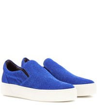 Balenciaga Glitter Slip On Sneakers Blue