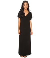 Hard Tail Every Day Tee Maxi Dress Black Women's Dress