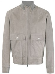 Brunello Cucinelli Suede Jacket Grey