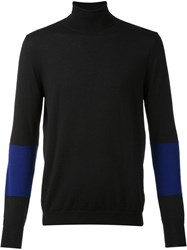 F.S.Z Contrast Sleeve Turtleneck Jumper Black