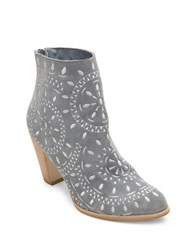 Matisse Springfield Suede Embroidered Booties Dusty Blue
