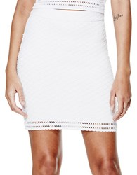 Guess Textured Mini Skirt White