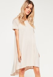 Missguided White Drop Back Swing Dress Cream