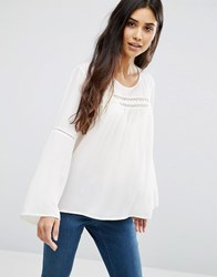 Only Boho Blouse Cloud Dancer White
