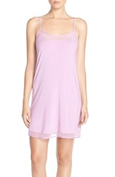 Women's Calvin Klein 'Naked Touch' Scoop Neck Chemise Blushed Suede
