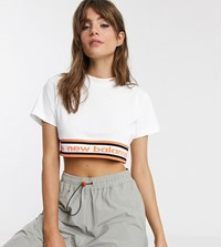 New Balance Utility Pack Cropped T Shirt In White Exclusive At Asos