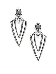 Adriana Orsini Crystal Statement Earrings Silver