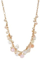 Joe Fresh Cluster Bead Collar Necklace White