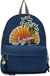 See By Chloe Blue Denim Sunset Backpack